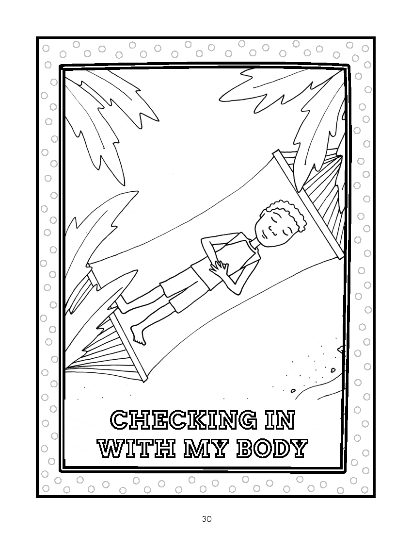 Checking in with my Body Coloring Sheet
